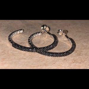 Jewelry - Argent sterling silver diamond earings